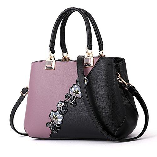 SDINAZ Damenhandtaschen Mode Schultertaschen PU Leder Shopper Umhängetaschen