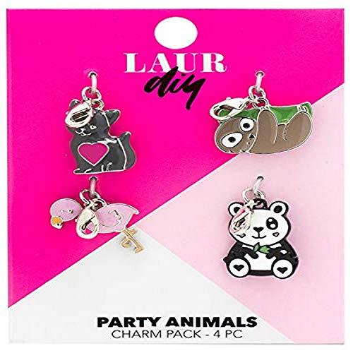 LaurDIY 37600087 Party Animal Pack Charm, Multi