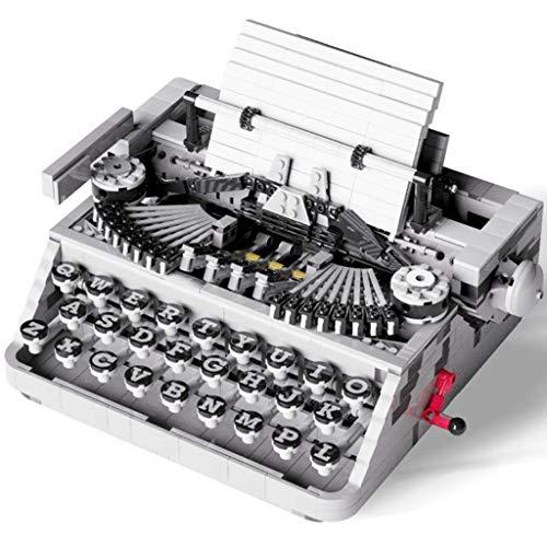 ZSM Retro Máquina de Escribir Bloque de construcción Modelo Colección educativa Regalos de cumpleaños para niños y Adultos, 1618 Piezas YMIK
