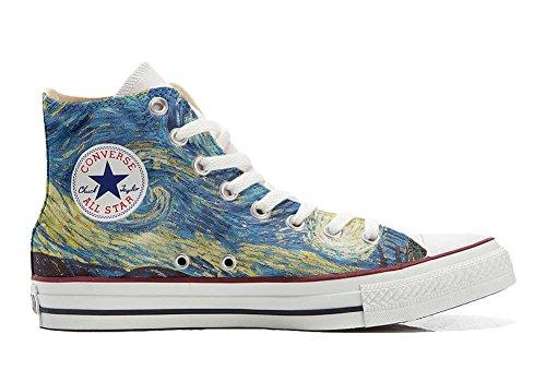 Scarpe Sneakers Personalizzate (Uomo/Donna) Originali Hi Canvas, Sneaker Unisex (Prodotto Artigianale) Van Gogh - TG40