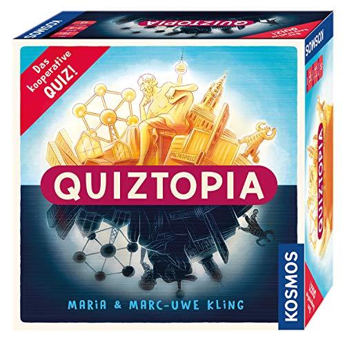 KOSMOS - Quiztopia - Gemeinsam gegen das Spiel, das kooperative Quiz von Marc-Uwe Kling. Wissensspiel ab 16 Jahren, Brettspiel