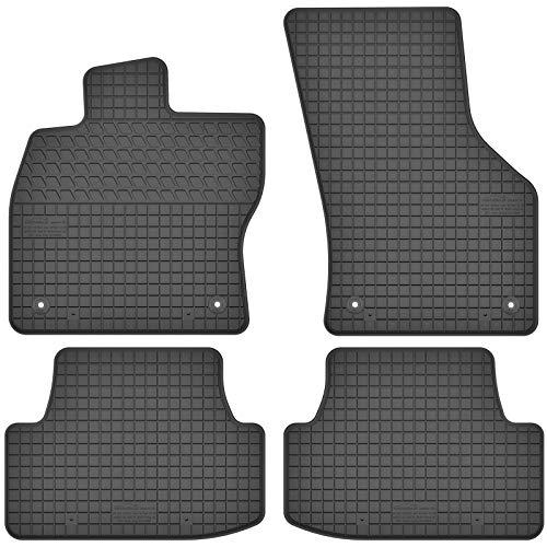 AGCPdirect Gummi Matten Fußmatten Passgenau 4-teilig Set für Seat Leon 3 2012-2020 und Seat Ateca 2016-2021 und Cupra Ateca 2018-2021