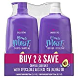Aussie Miracle Moist Shampoo & Aussie Miracle Moist Conditioner, 2-pack, 26.2 Fl. Oz ea.