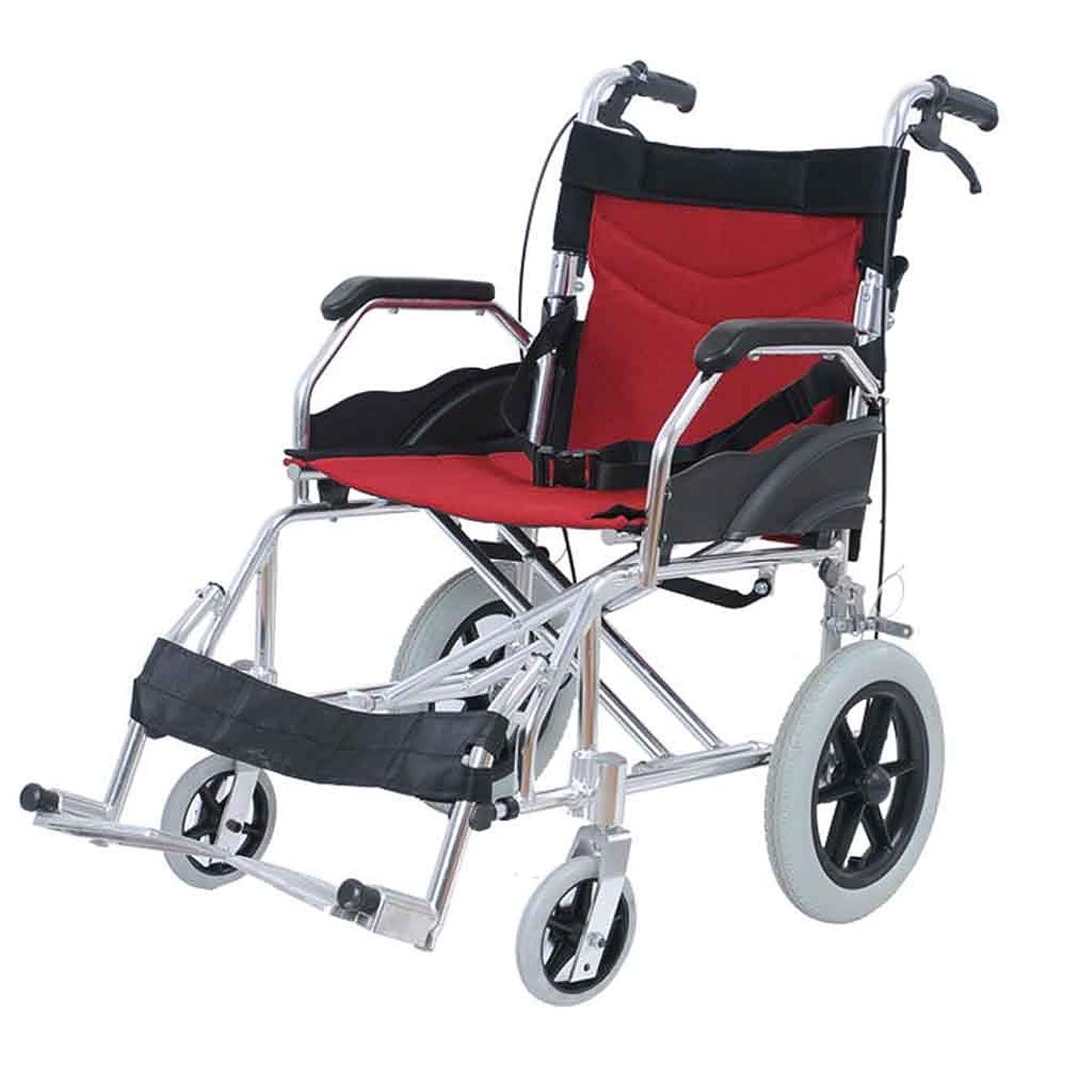 南時間とともに検閲自走式車椅子、アルミ折りたたみ車椅子、18インチ席、多機能、軽量、家族での屋外使用に適したポータブル車椅子
