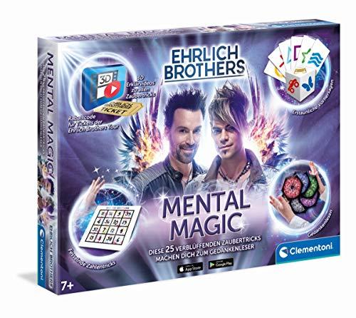 Clementoni 59182 Ehrlich Brothers Mental Magic, Zauberkasten für Kinder ab 7 Jahren, magische Anleitung für verblüffende Zaubertricks, inkl. 3D Erklärvideos, als Geschenkidee zu Ostern