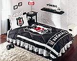TAÇ Beşiktaş 1903 Baby Ranforce - Set di biancheria da letto 155 x 215 cm, lenzuolo con angoli 160 x 260 cm, federa 50 x 70 (2 pezzi)