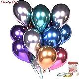 Partyda 12インチ極厚金属風船 光沢バルーン 誕生日 結婚式 お祭り イベント パーティー 飾り付け 風船 JPX3