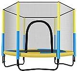 Jeseca - Trampolín redondo con red de recinto, oficina en casa, entrenador cardiovascular, trampolín interior o exterior para niños