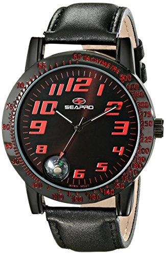 Seapro SP5114 - Orologio da uomo con display analogico al quarzo, colore: Nero