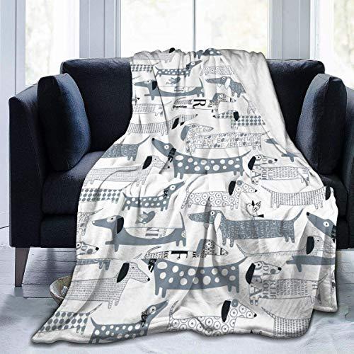 AEMAPE Weiner Dog-2 Cozy Throw Flannel Blankets Manta cálida 153X127CM