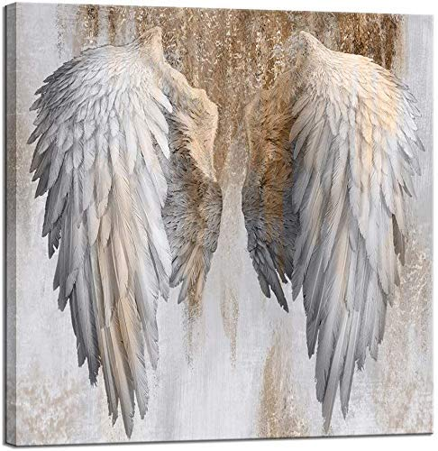 Ruduwu Home Decor Diamond Painting Print Oil Painting on Canvas Wall Art, Angel Wings 3040cm