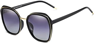 SGJFZD Outdoor Seaside Sunscreen UV400 Fishing Polarized Sunglasses Trendy Polarized Sunglasses Sporting Large Frame Elegant Sunglasses Vintage Retro PC (Color : Black)