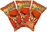 Sabritas Authentic Mexican Chips Large Bag Fresh Mexican Snacks-Cheetos Bolita, Torciditos, Colmillos, Flaming Hot, Crujitos, Churrumais, Ruffles, Rancheritos, Doritos 3-Pack (Cheetos Torciditos)