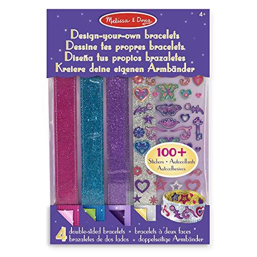 Melissa & Doug- Design-Your-Own Kit para Diseñar Tus Propios Brazaletes, 4-7 Años, Multicolor (14217)
