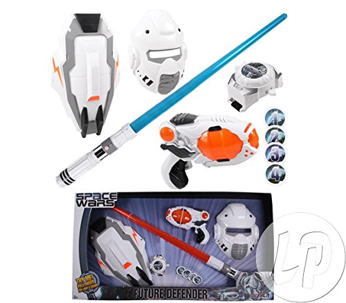 COOLMP Fiesta Palace - Set Space Wars 5Pcs Pistolet Sabre Masque Bouclier Montre Enfant