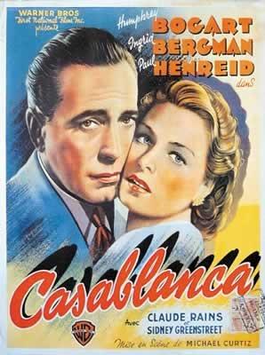 Casablanca - Col Vertical francés enorme filmotecas Póster mide aproximadamente 100 x 70 cm más grandes películas de la colección dirigida por Michael curtiz. Protagonizada por Humphrey Bogart, Ingrid Bergman, Paul Henreid.