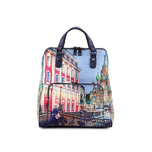 YNOT Backpack Colorful Moscow YES400FO Rucksack mit Zwei Tragegriffen und Schultergurten