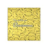 Sciarpa quadrata da donna Cerca di non andare banane collo sciarpe e impacchi sciarpa alla moda foulard fazzoletto da collo 88,9 x 88,9 cm