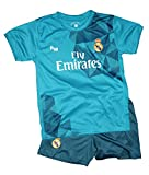 Kit Real Madrid Oficial Tercera Equipación (Camiseta y Pantalon) Dorsal Ronaldo 7 (Talla 12 años)