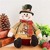 Kissen Weihnachtsschmuck Artificial Rentier-Puppe Flanell Spielzeug Weihnachtsdekorationen for Haus (Farbe : 02, Größe : 11x7.87x5.9)
