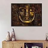 Carteles de lienzo Buda dorado canavs pintura arte de pintura de pared tradicional para sala de estar arte de impresión de lienzo abstracto 40x60 cm sin marco