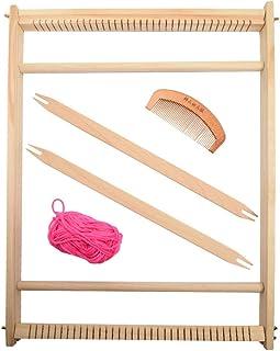 KKTECT Métier à tisser Machine à tricoter à la main DIY Kit de métier à tisser en bois Cadre de tissage en bois Tapisserie...