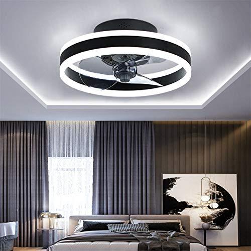TATANE Reversible Plafonnier Ventilateur Silencieux Telecommande 6 Vitesses Chambre Ventilateur de Plafond avec Lumiere Moderne Salon...