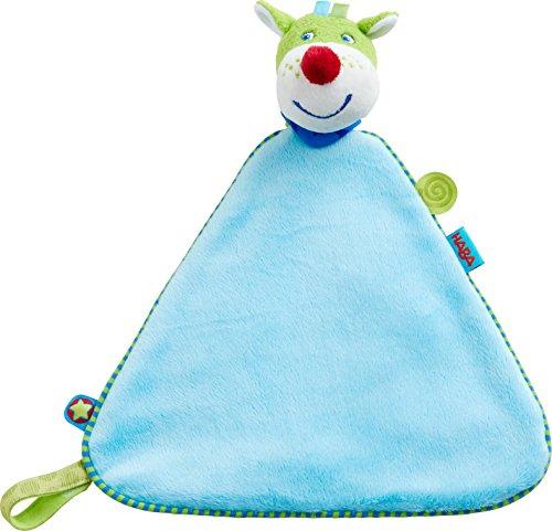 HABA 303874 - Schmusetuch Drache Duri, weiches Schmusetuch für Babys von Anfang an, zum Spielen, Trösten und Einschlafen, mit Klettverschluss für Schnuller, Geschenk zur Geburt, Taufe oder Geburtstag