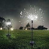 Luz solar de fuegos artificiales, 150 LED, resistente...