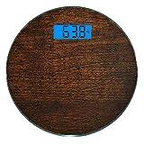 Escala digital de peso corporal de precisión Ronda Decoración de madera...