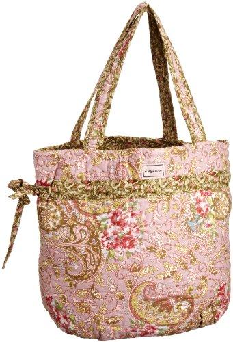 Ringarose Bow Ties Bag Paisley Rose, Borsa Tote Donna
