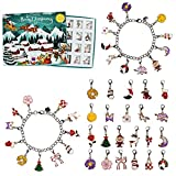Advent Calendar 2021, Christmas Countdown Calendar for Girls, 24 Days Xmas Jewelry Gift Set for Kids Teen Adult with 22 DIY Charm Beads, 2 Bracelets