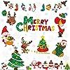 LOKIPA クリスマス 飾り 静電ステッカー 剥がせる Merry Christmas 静電気シール 窓ステッカー 壁飾り 小物 部屋 装飾品 インテリア 雰囲気 おしゃれ