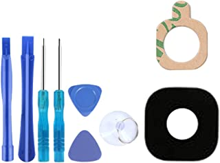 Back Camera Back Rear Camera Glass Lens Black Replacement + A Set of Repair Tools for Samsung Galaxy A3, A5, A7 (2017)