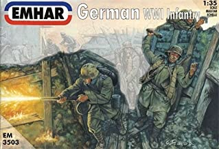 Emhar WW1 German Infantry - 1:35 Plastic Model Kit by Emhar