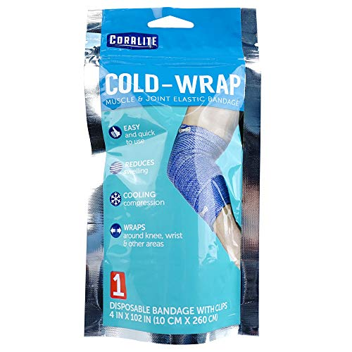 Family Care Cold Bandage Wrap – Cold Elastic Bandage Wrap and Compression Wrap for Muscle Pain Relief, Knee Pain Relief and Joint Pain Relief, 4in X 102in (24 Pack)