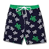 Kute 'n' Koo Boys Swim Trunks, UPF 50+ Quick Dry Boys Swim Shorts for Big Boys and Toddlers, Size from 2T to 18/20 (8, Sea Turtles)