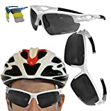 VeloChampion Tornado Cycling Running Sports Sunglasses - Red with 3 Sets of Lenses and Soft Pouch (Black)
