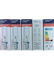 5 stuks vervangende lampafzuigkap 40 Watt E14 helder lamp 240 V 380 lumen 2700 K warm wit