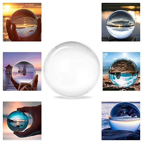 100MM Riflessioni Palla di Cristallo Trasparente Sfere Cristallo Sfera K9 Puntelli Fotografici per Meditazione e Guarigione Casa Ufficio Arredamento Compleanno Natale Regalo