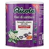 Ricola, Caramelle Balsamiche alle Erbe, Senza Zucchero, Gusto Fiori di Sambuco - Barattolo da 1kg