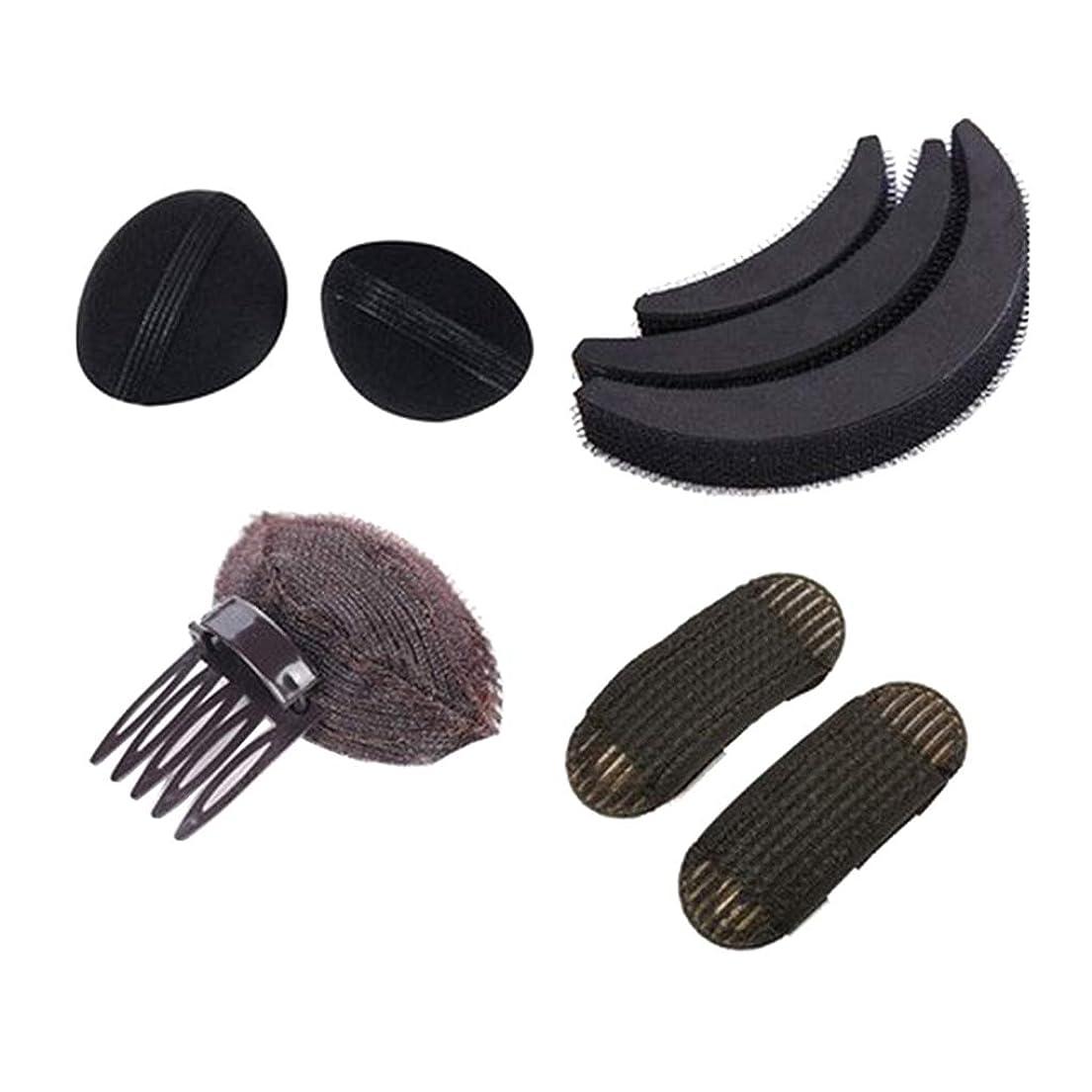 低下円形書き出すヘアスタイリングキット ヘアスタイリングツール 女性 DIY 髪型作成 使用簡単 4種類 - B