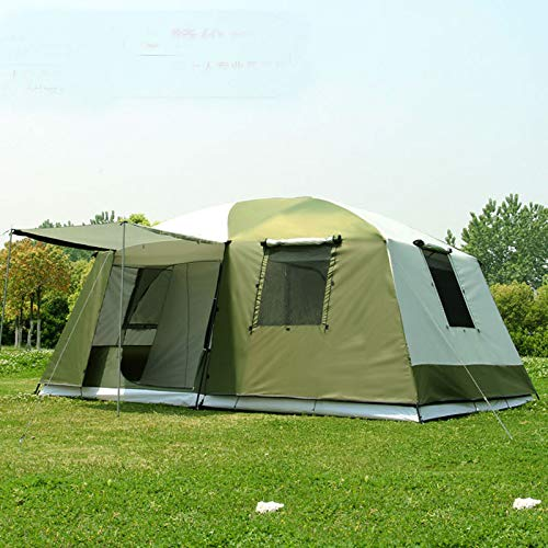MENGQIN 10 Personen Dubbele Laag 2 Kamers 1 Hal Grote Outdoor Familie Feestje Camping Tent In Met Grote Ruimte