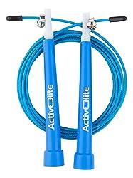 ActiveElite ✮ Profi Springseil für Sport & Fitness ✮ Ideal für: Boxen, Crossfit, MMA, WOD ✮ Speed Rope ✮ Bonus: Transporttasche + Ersatzseil & weiteres Zubehör (Orange)