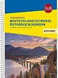 Falk Straßenatlas Deutschland, Schweiz, Österreich, Europa 2021/2022 1 : 300 000 (Falk Atlanten)