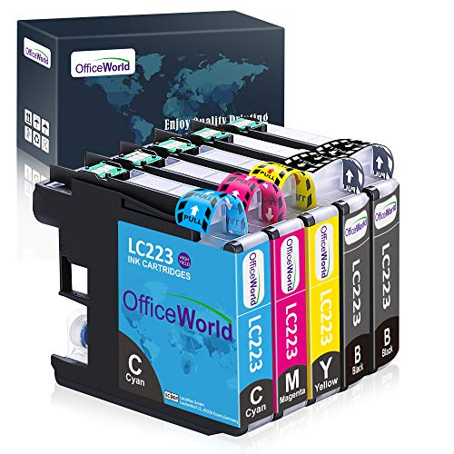 OfficeWorld Reemplazo para Brother LC223 Cartuchos de Tinta Alta Capacidad Compatible para Brother DCP-J562DW DCP-J4120DW...