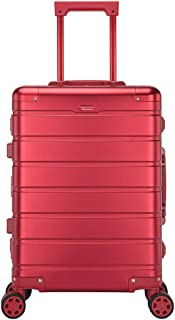 VeroMan スーツケース アルミマグネシウム合金 キャリーバッグ キャリーケース 360度回転ダブルキャスター TSAロック搭載 軽量 機内持込可