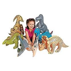 3. Fun Express Jumbo Inflatable Dinosaurs (6pcs)