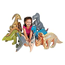 1. Fun Express Large Inflatable Dinosaurs Balloons (Set of 6)