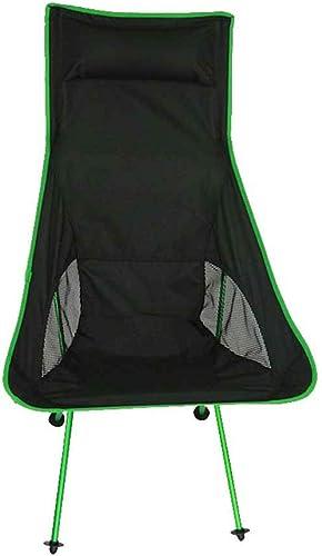 Chaise Pliante Portable Ultra-légère avec Fourre-Tout pour Le Camping en Plein Air, La Randonnée (Couleur   B)